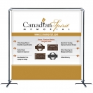 Banner Sling with 8' x 8' Graphic,  Cross Base